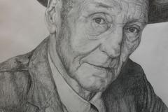 William S. Burroughs - graphite on paper