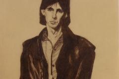Ric Ocasek - graphite on paper