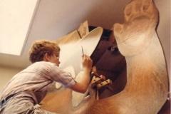 Smokey Bear - acrylic on plywood