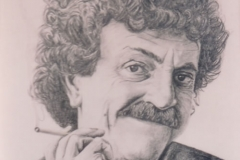 Kurt Vonnegut - graphite on paper