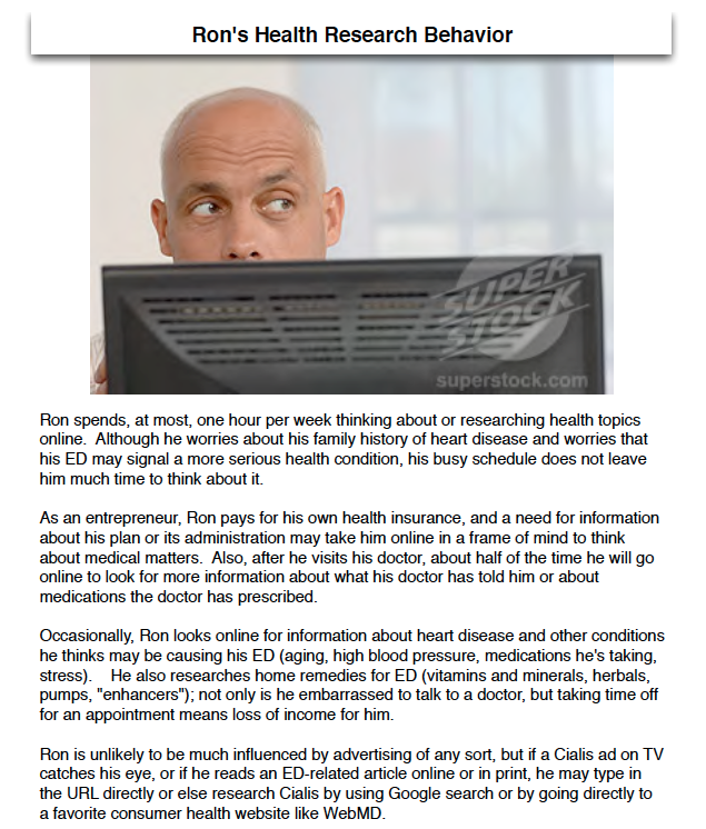Ron's Health Research Behavior