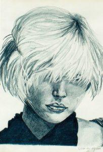 Debbie Harry - by Cassie Carter - graphite on paper