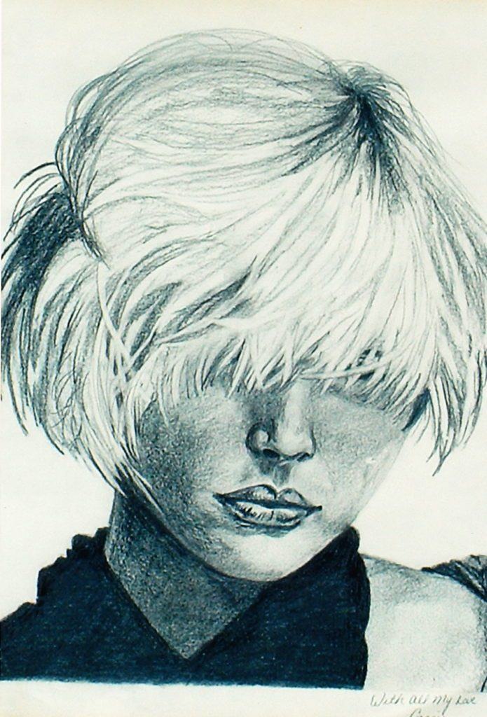 Debbie Harry - by Cassie Carter - graphite on paper
