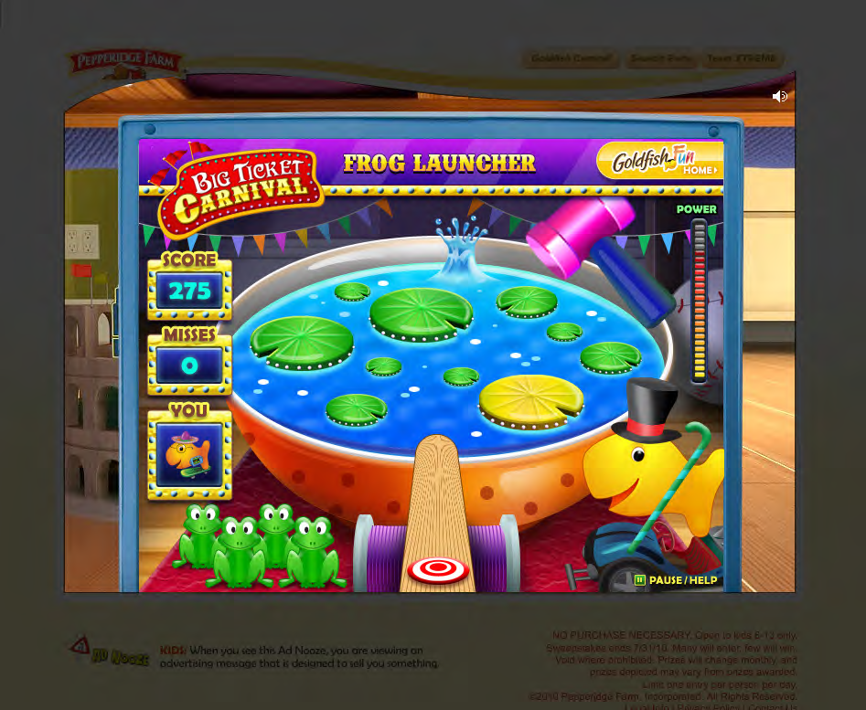 Final Art - Goldfish Carnival Frog Launcher