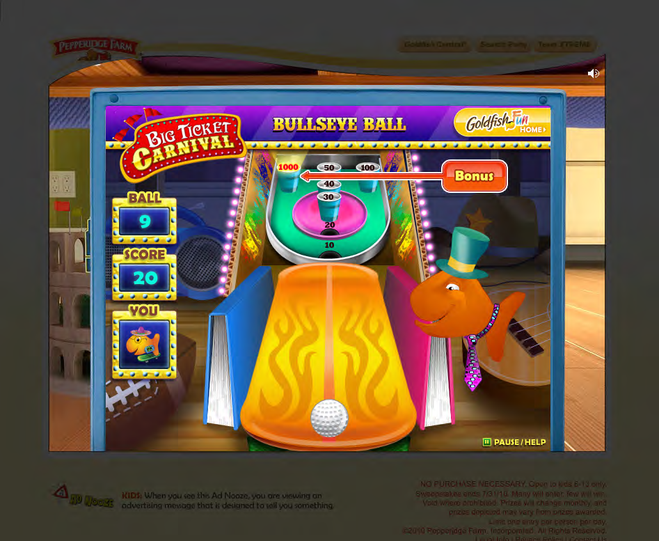 Final Art - Goldfish Carnival Skeeball