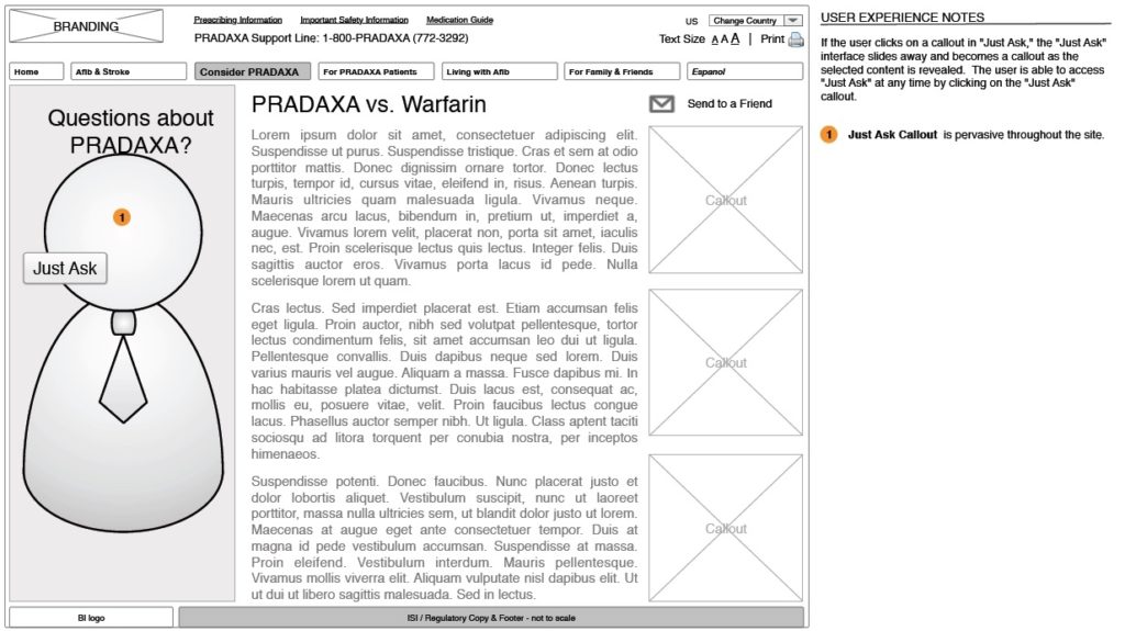 (8) Accepted Concept - annotated wireframe