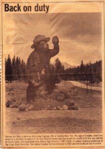 My Painting of Smokey Bear in the News
