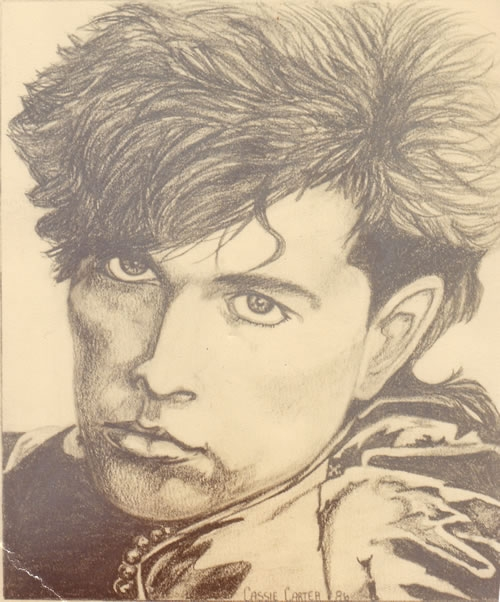 Tom Bailey - by Cassie Carter - graphite on paper