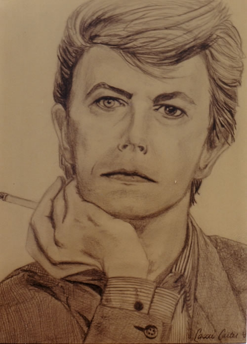David Bowie - by Cassie Carter - graphite on paper