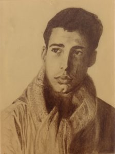 Chevy Chase - by Cassie Carter - graphite on paper