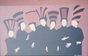 Hats - by Cassie Carter - acrylic on art board