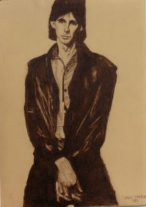 Ric Ocasek - by Cassie Carter - graphite on paper