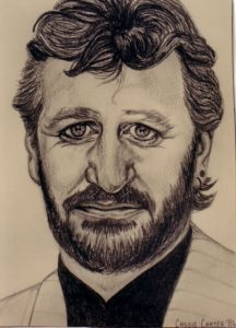 Ringo Starr - by Cassie Carter - graphite on paper