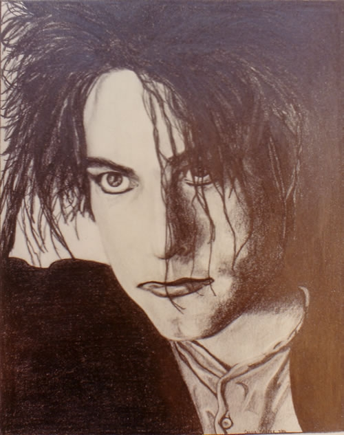 Robert Smith - by Cassie Carter - graphite on paper