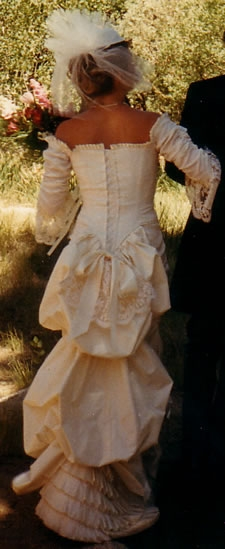 Wedding dress design actualized, back - photo
